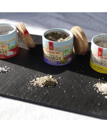 Assortiment de 3 pots de sel de Camargue